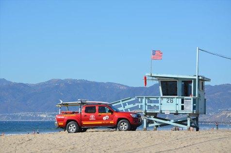Cabane des sauveteurs, place de Venice Beach, Los Angeles