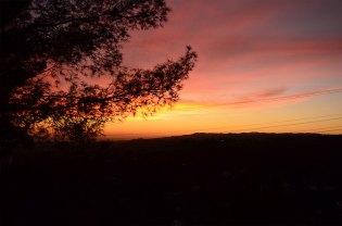 Coucher de soleil depuis Berverly Hills, Los Angeles