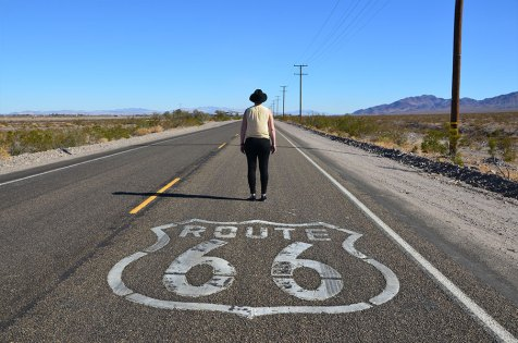 Séance photo sur la Route 66