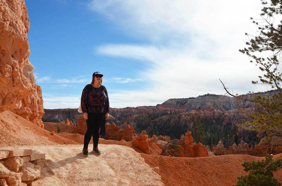 Sur le chemin du Queens Garden Trail de Bryce Canyon, USA