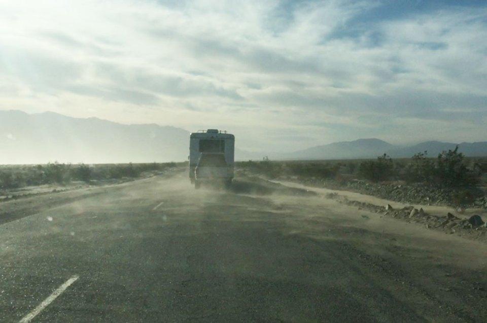 Tempête de sable à Death Valley, US