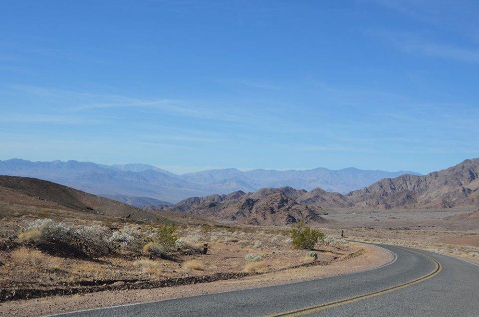 Sur la route de Death Valley, US