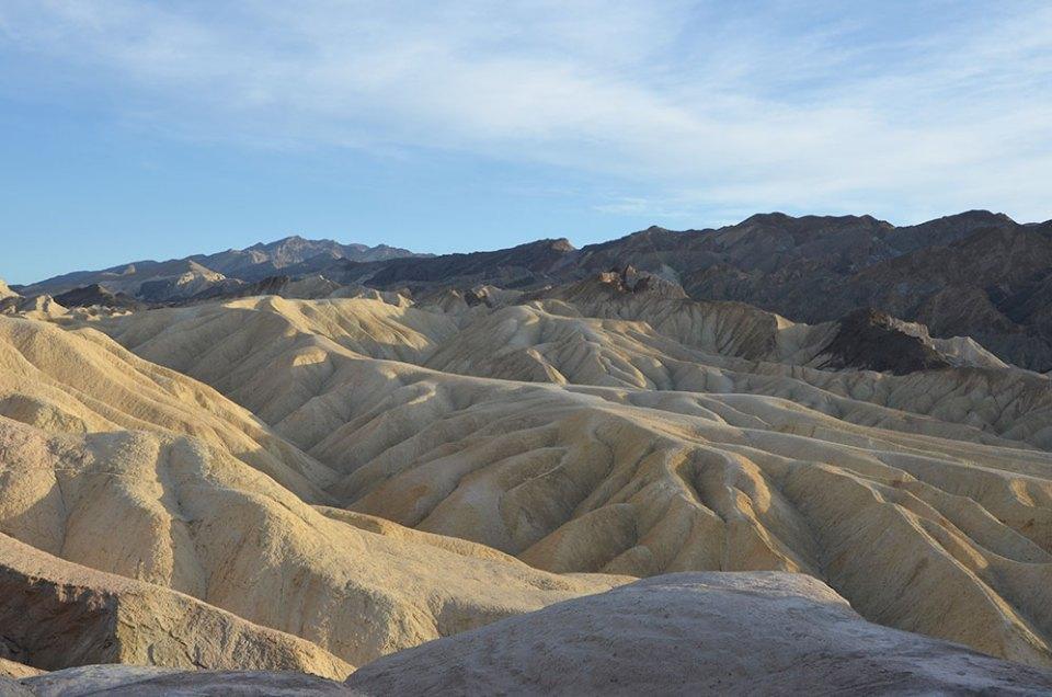 Vue sur les dunes de Zabriskie Point, Death Valley