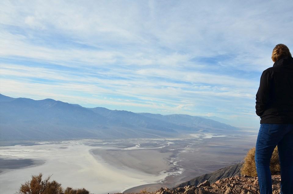 Vue panoramique sur Death Valley depuis Dante's view
