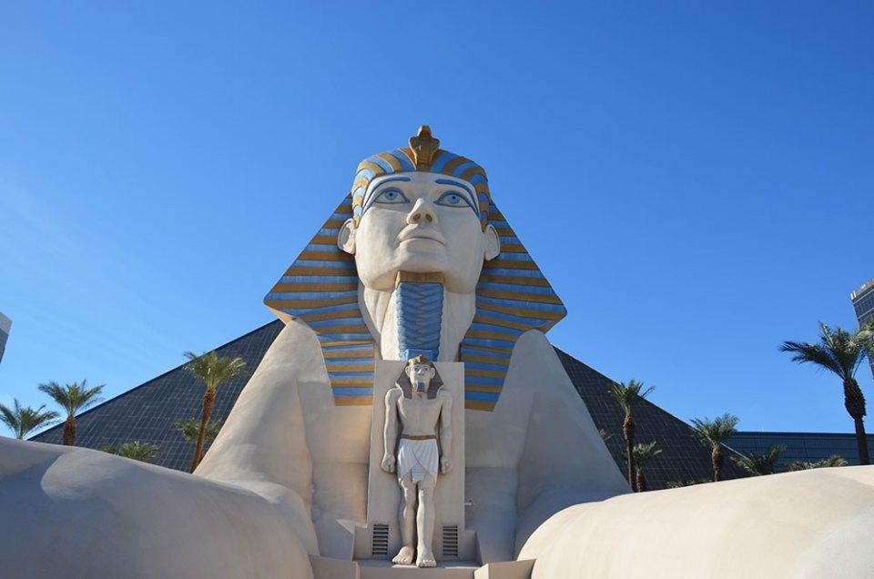 Sphinx géant de l'hôtel Luxor de Las Vegas