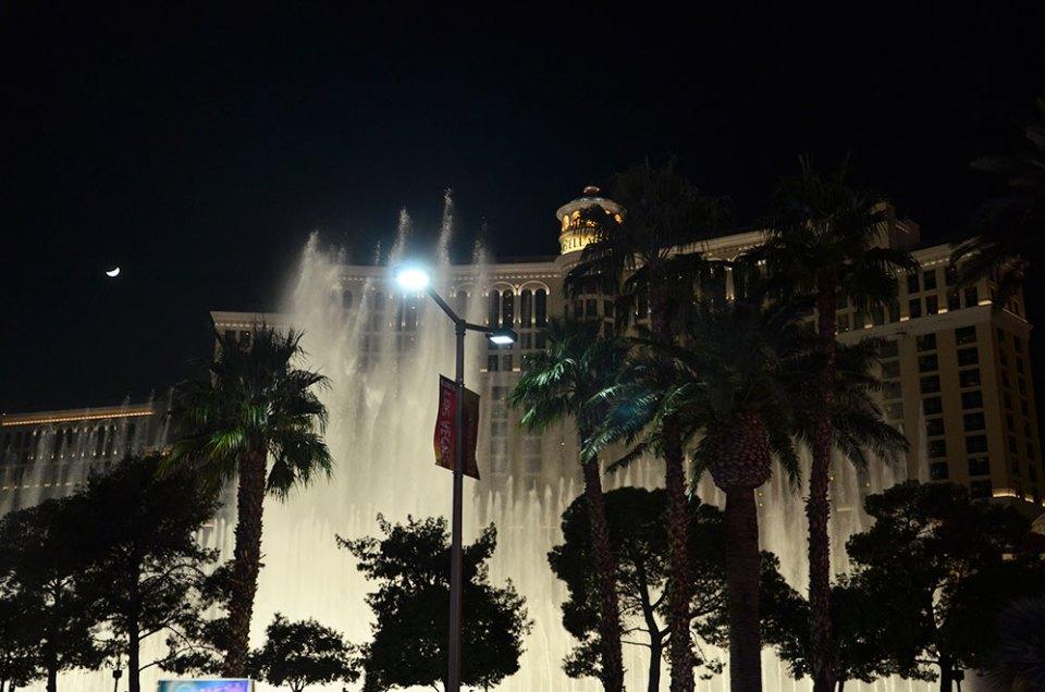 Vue sur le Bellagio et ses Fontaines, Las Vegas