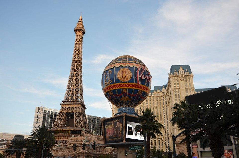 Façade du Paris Las Vegas hôtel