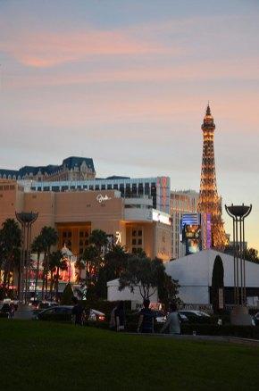 Coucher de soleil sur Las Vegas
