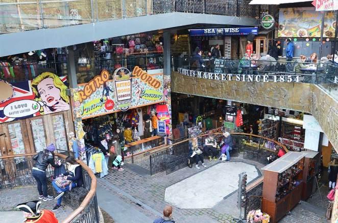 Entrée du marché de Camden Market, Londres