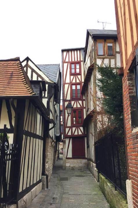 Maison à colombages dans le vieux Rouen, Normandie