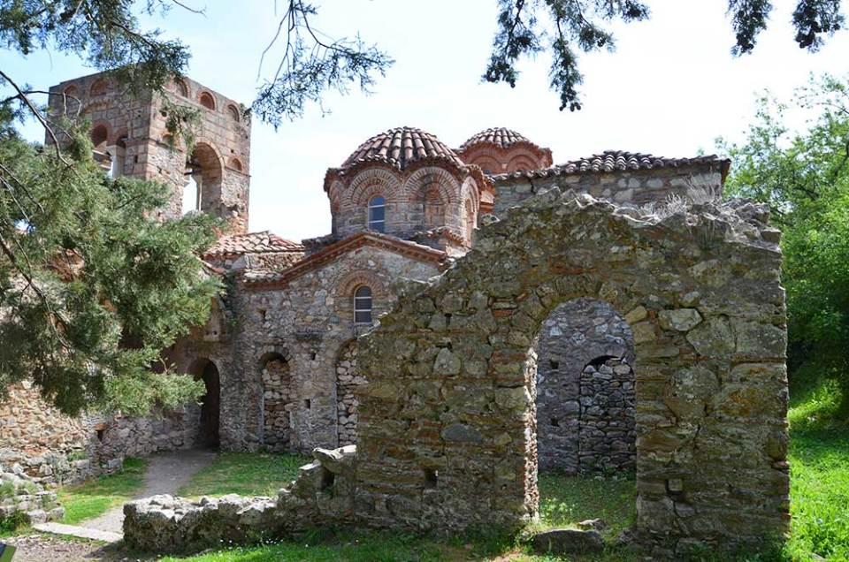 Un monastère du site de Mystra, Grèce