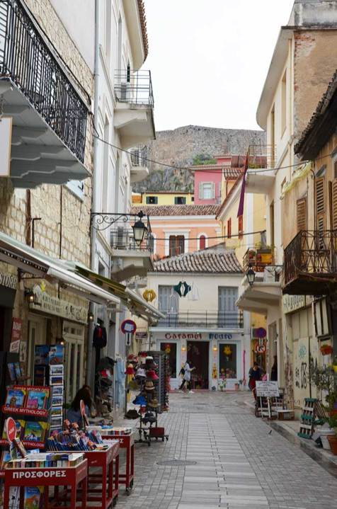 Rue piétonne de Nauplie, Grèce