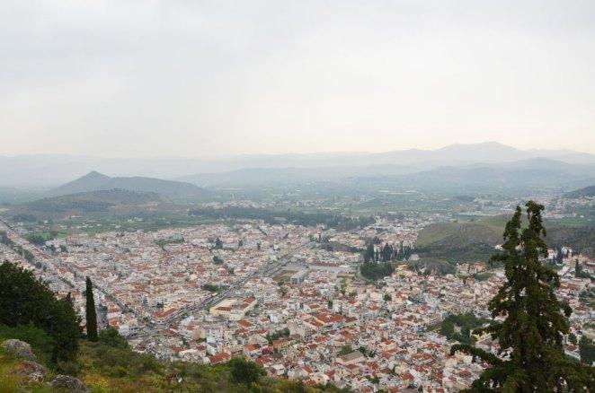 Vue sur Nauplie depuis sa citadelle, Grèce