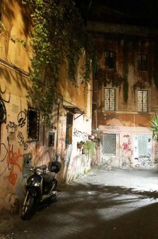 Ruelles du quartier Trastevere, Rome, Italie