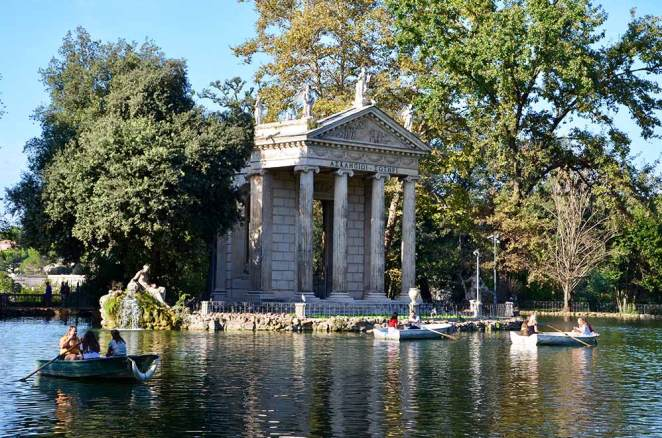 Jardins de la Villa Borghese, Rome, Italie