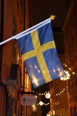 Drapeau de la Suède à Stockholm