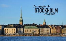 Vue sur Stockholm par beau temps et ciel bleu, Suède
