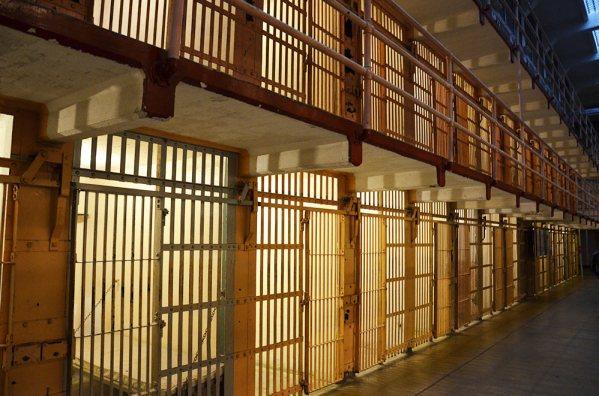 Cellules de la prison d'Alcatraz, San Francisco, USA