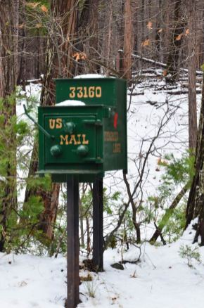US mail, Evergreen Lodge, Yosemite National Park, USA