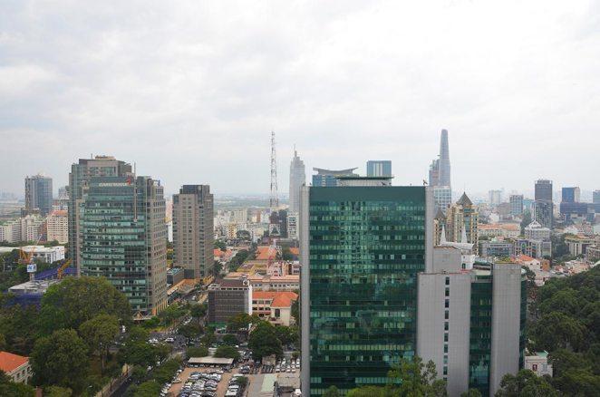 En haut d'un Rooftop, Ho Chi Minh Ville, Saigon, Vietnam