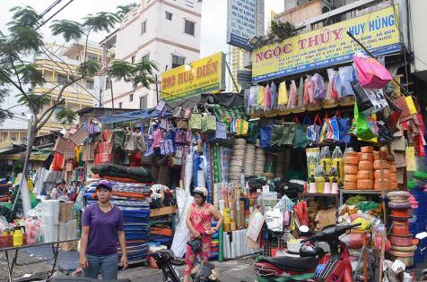 Marché dans le quartier asiatique de Saigon, Ho Chi Minh Ville, Vietnam