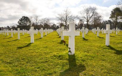 Couverture, cimetière Colleville, Normandie