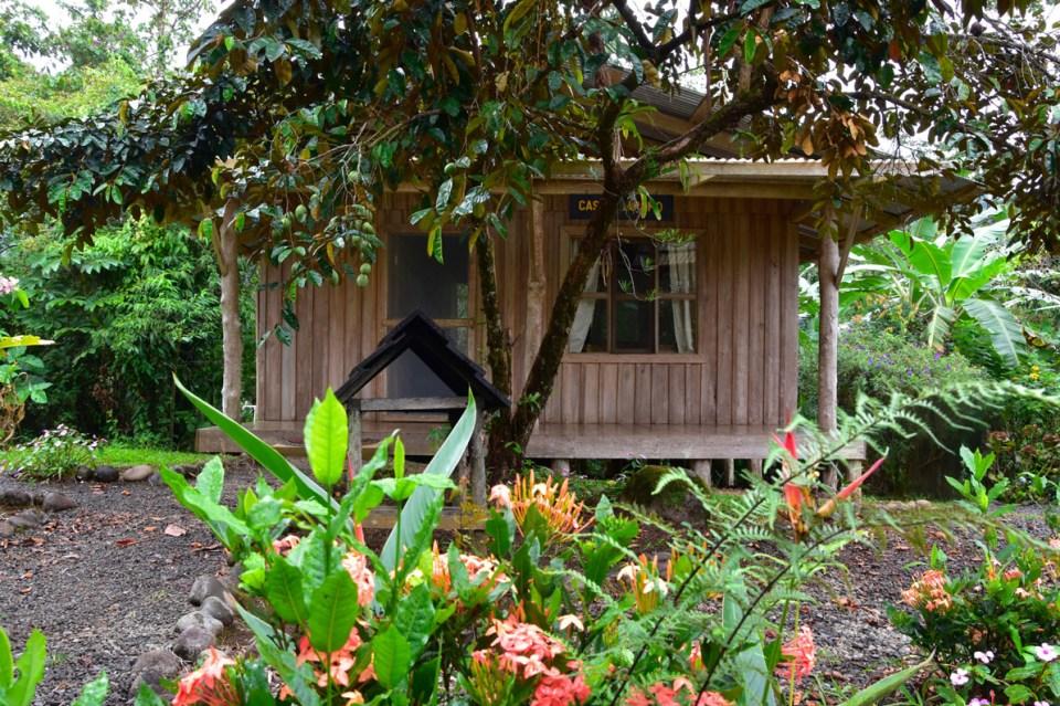 Façade de notre lodge à la Finca La Amistad, Costa Rica
