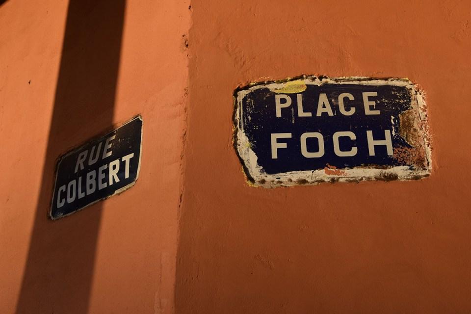 Plaque de rue française, Diego Suarez, Madagascar