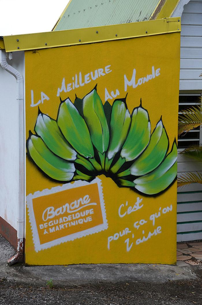 Vue sur un street art sur la Banane de Guadeloupe