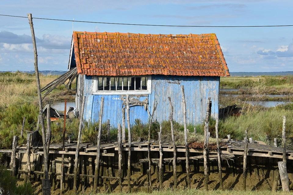 Cabane bleue de la route des huîtres, Ile d'Oléron