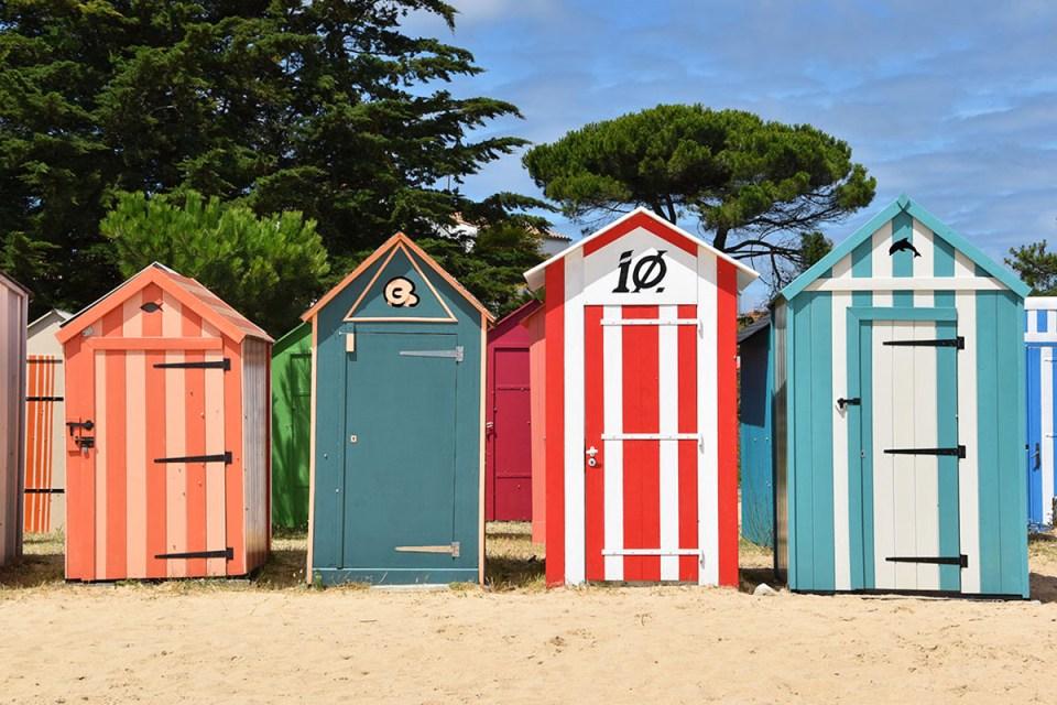 Cabanes de plage colorées de la Boirie, Ile d'Oléron