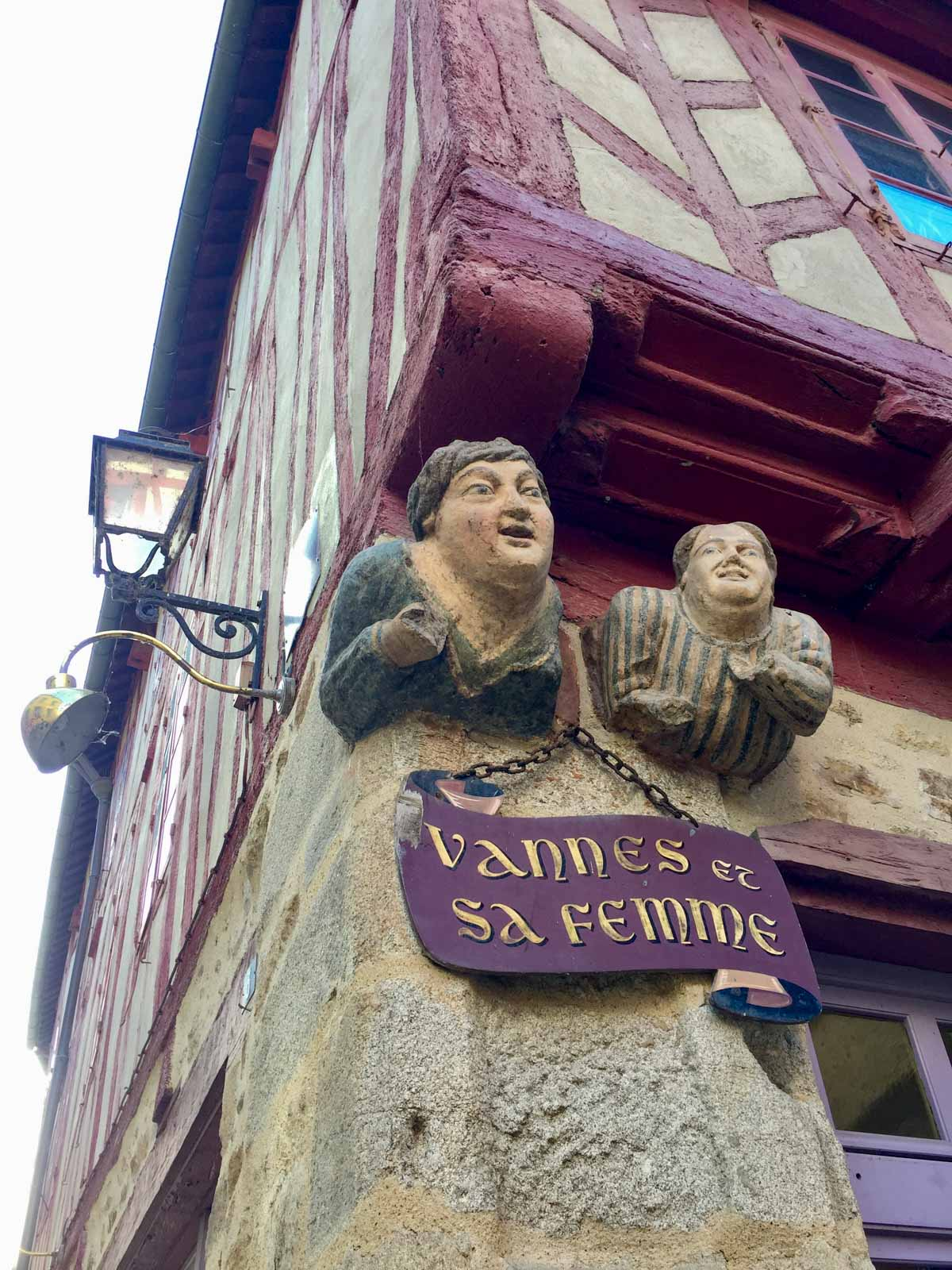 Vannes et sa femme, Vannes, Morbihan, Bretagne