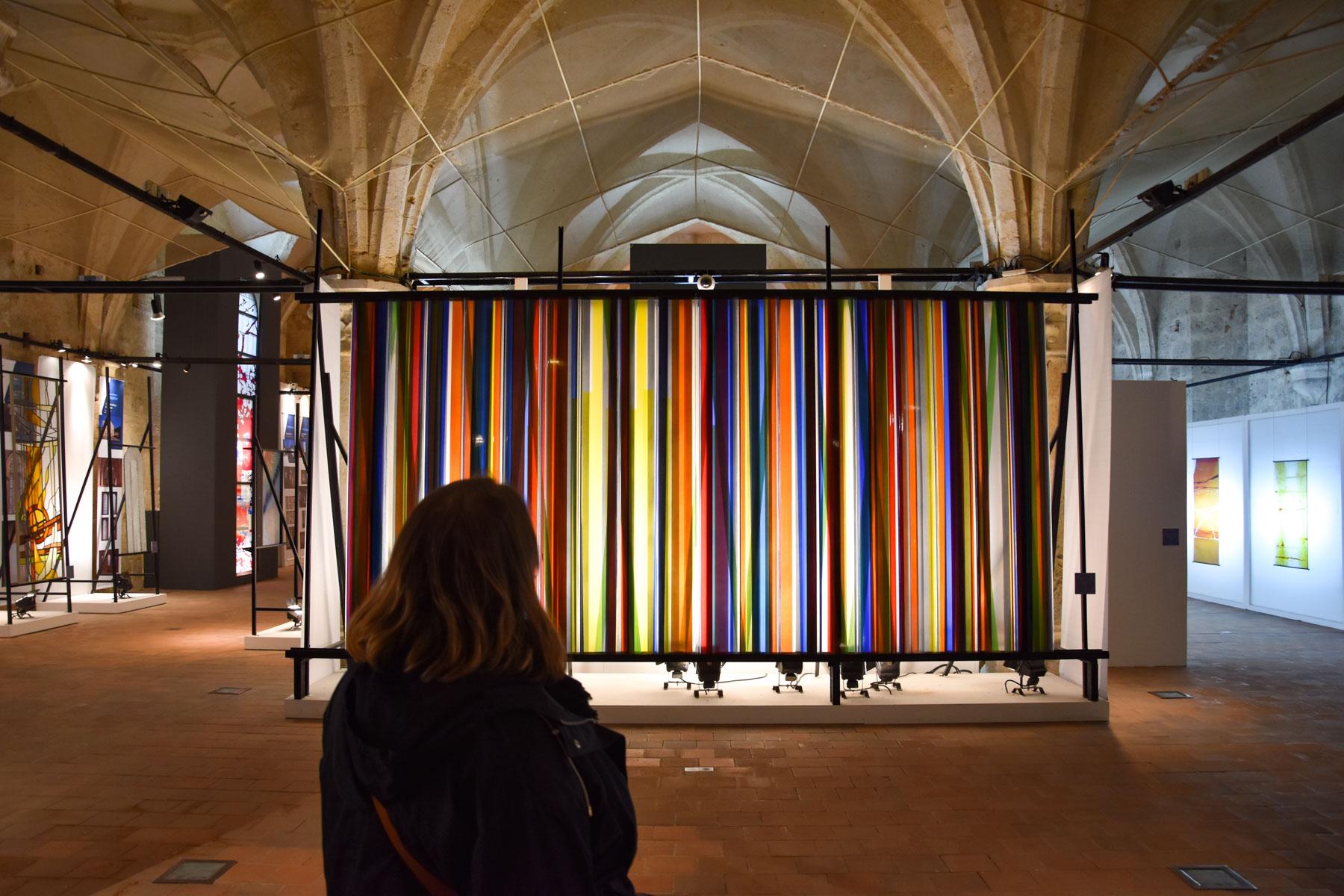 Marie-Catherine visite le Centre International du Vitrail, Chartres