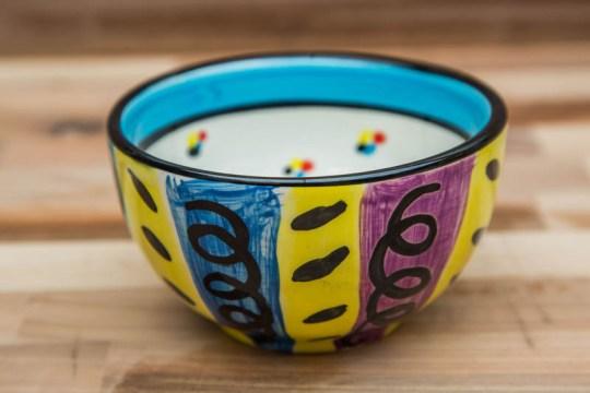 Vertical Stripey sugar bowl in Multi