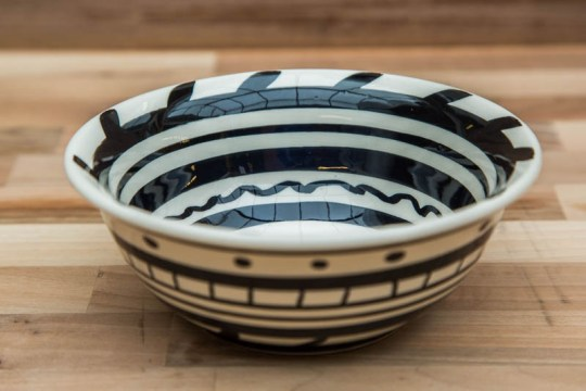 Black and White cereal bowl in Banded