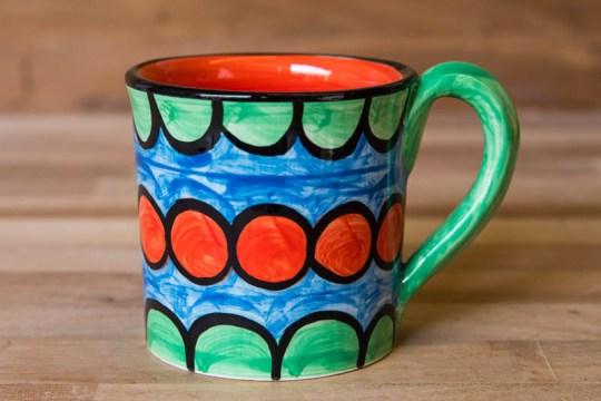 Fruity wide parallel mug in Green