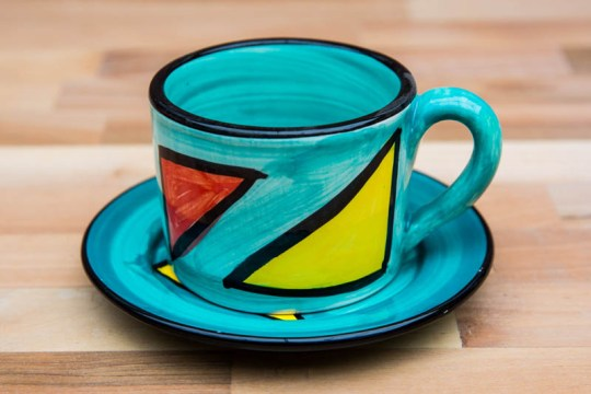 Carnival small cup and saucer in Sea Green