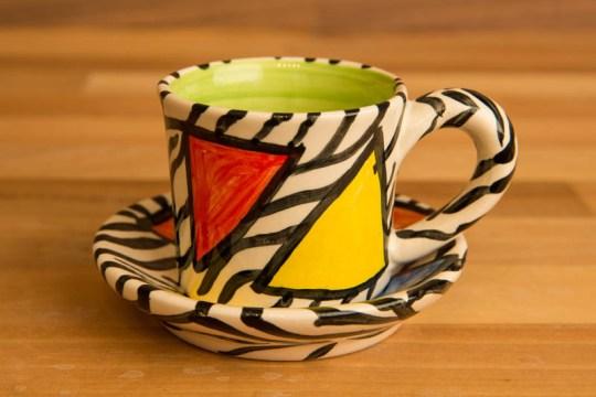 Carnival Safari espresso cup and saucer
