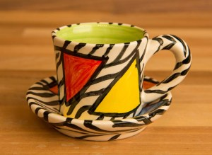 Carnival Safari espresso cup and saucer