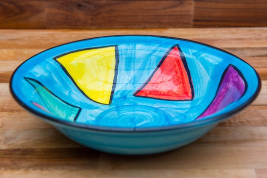 Carnival pasta bowl in Pale Blue