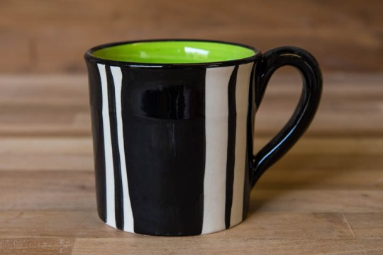 Black and White small parallel mug in Broad Stripe
