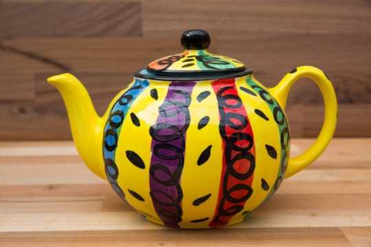 Vertical Stripey extra large Teapot in Multi