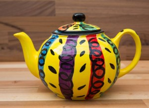 Vertical Stripey small teapot in Multi