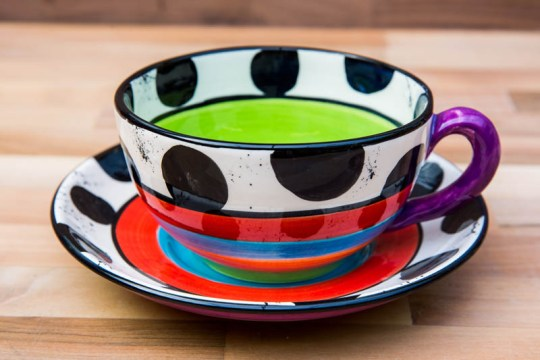 Hi-Life Gaudy cup and saucer in Spot