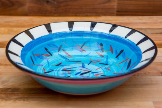 Splash pasta bowl in Pale Blue