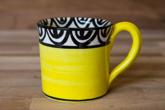 Aztec small parallel mug in yellow
