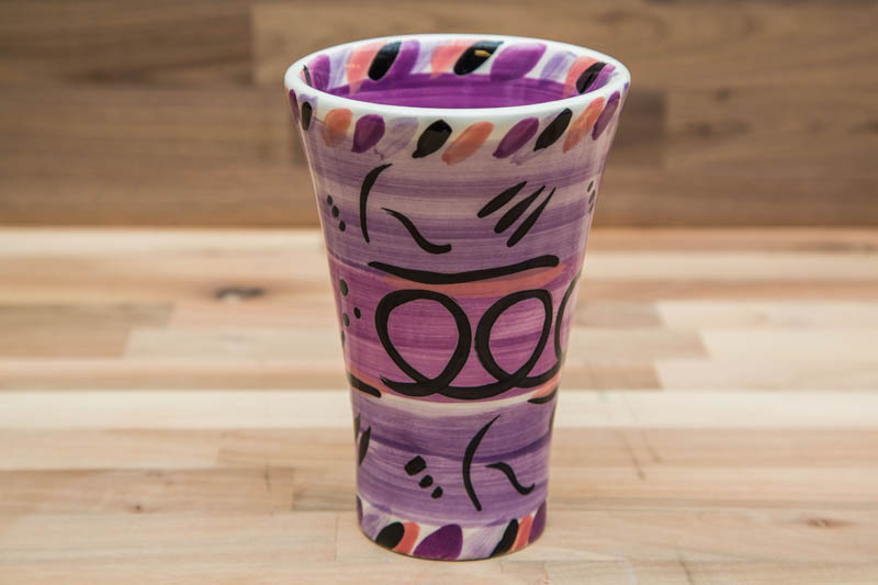 Reckless Designs Abstract Large Vase In Purple