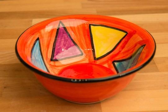 Carnival cereal bowl in Red