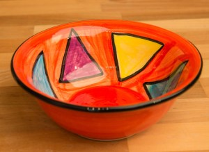 Carnival cereal bowl in Red