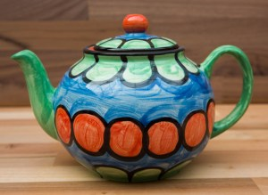 Fruity extra large Teapot in Green